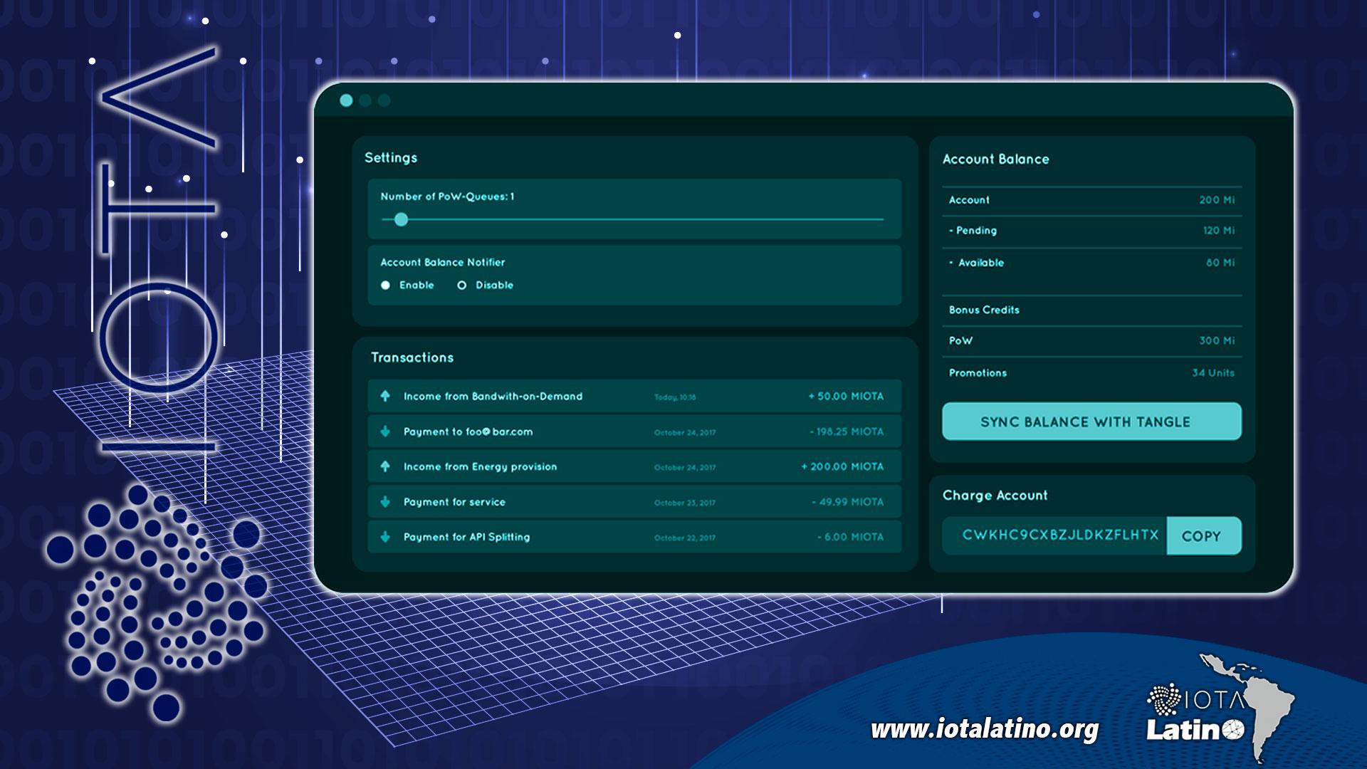 enviar y recibir IOTA - API Delion - 1